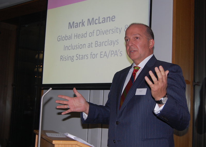 Mark McLane -Barclays presenting awards